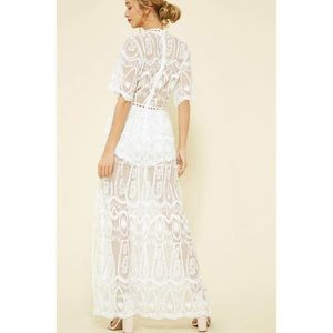8c6dcd75db65 The O Boutique Dresses - White Bardot Lace Maxi Romper Dress
